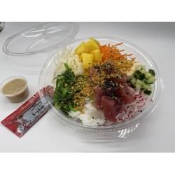 Poke bowl groot met tonijn wasabi mayonaise.