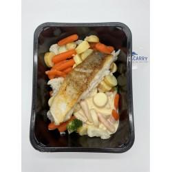 Dagvangst met groenten en kriel