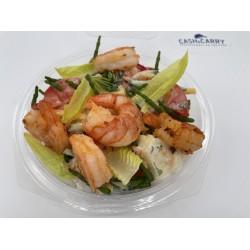 Frisse salade met gamba