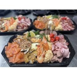 Koude vlees & vis schotel